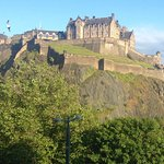 The view of Edinburgh Castle from my Room at the Premier Inn