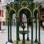 Water fountain in main hall
