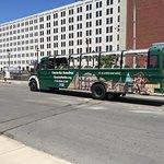 Open air auto bus