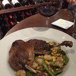Duck Confit pared with a Turly Zinfandel from Calistoga, CA