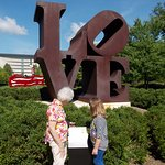 She really appreciated the iconic Robert Indiana LOVE sculpture