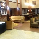 Hotel lobby/breakfast area