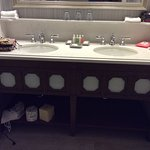 Clean bathroom and double sinks