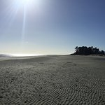 Tahunanui Back Beach tides out