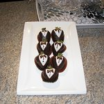 Chocolate covered strawberries waiting in our room on our arrival.