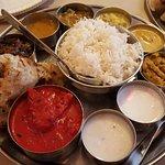 Butter chicken thali