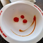 A smiley face from our waitress.