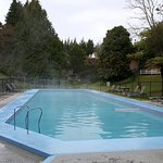 Outdoor heated pool and forest bike trails