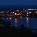 Duluth, MN at night. Photographed from the Enger Tower.