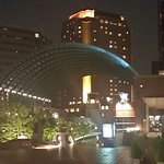 View of the Westin Tokyo from the garden across the street.