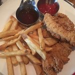 Kids chicken fingers and fries