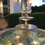 Fountain in front of hotel entrance