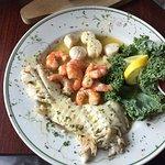 Rockfish, shrimp and scallops