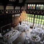 Wedding reception dining area
