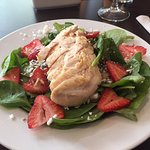 Spinach strawberry salad with chicken, Best Western Plus Downtown Winnipeg