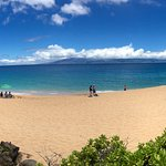 Beach nearby. Kaanapali beach on the other side of black rock.