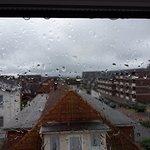 Aussicht bei Regen mit Meerblick