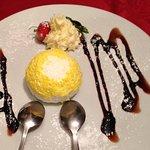 The delicious limoncello dessert!!