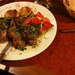 Lamb chop with vegetables