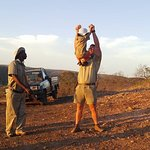 Fun on a game drive with Jonty and Sipiwe