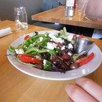 Salad with feta.