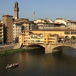 View from our room, from the Ponte Vecchio nearby and of course a gelateria.