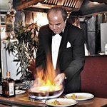 Crêpe Suzette prepared at your table.