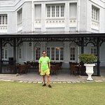 the lovely facade of the heritage E&O hotel -the open areas and the sea facing value are well wo