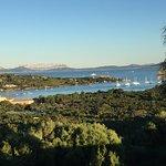 Blick auf den Hafen von Cala di Volpe