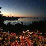 La vue magnifique que nous offrent nos hôtes un soir de juillet