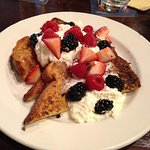 French Toast with fruit and whip cream (brunch)