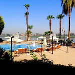 Fantastic pool area with a river view of Nile...