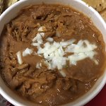 Visiting family in Austin pick-up to-go: Refried pinto beans