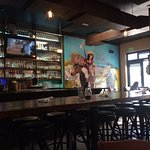 love the mural by the bar!