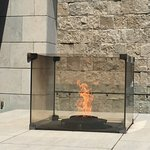 Freedom's Eternal Flame on the roof deck at the Museum.
