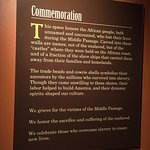 The sign introducing a commemoration space in the From Slavery to Freedom permanent exhibition.
