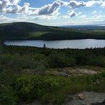 Beautiful lake view on the way to Cadillac Mountain