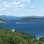 Beautiful view from the Acadia National Park loop road