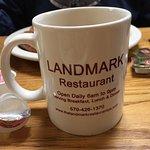 coffe mug with contact info