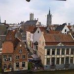 Prachtig uitzicht over historisch Gent