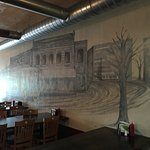 Mural on one wall of the restaurant