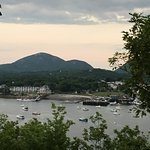 Great view of Bar Harbor from the Bar Island summit
