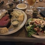 Prime Rib and house salad