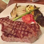 Boneless Ribeye with Grilled Vegetables