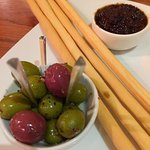 Olives and Bread Sticks