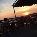 Sunset from the outdoor seating.