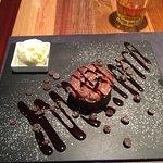 Hot chocolate molten lava cake