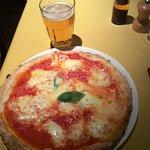 Pizza margherita with buffle mozzarella