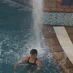 Cooling water fall