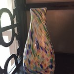 Vase with amazing color and detail purchased at Bermuda Glass Blowing Company